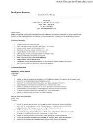 resume - Fundraiser Resume