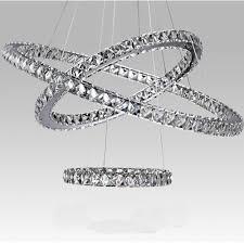 modern crystal chandelier light fixture led pendant lamp hanging light three surface crystal fixtures three