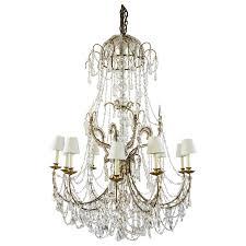 large vintage 1930s crystal chandeliers for