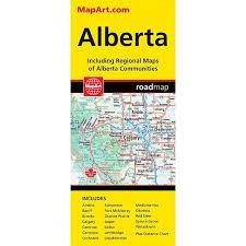 Alberta Distance Chart Mapart Alberta Deluxe Map