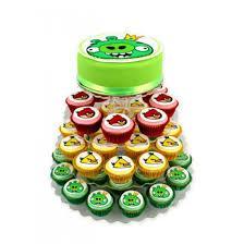 Angry Birds King Pig Green Cupcake cake