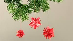 Diy Weihnachtsdeko Basteln 3d Sterne Aus Papier Falten
