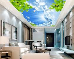 3d Behang Custom 3d Plafond Behang Muurschilderingen Mooie De Blauw