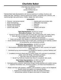 Contemporary Design Sales Representative Skills Resume Retail Skills