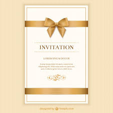 card invitation retro invitation card with a ribbon vector free download