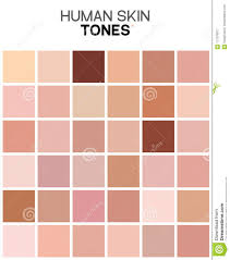 Skin Tone Chart Skin Tone Color Chart Human Skin Texture Color Infographic