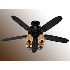 cortland ceiling fan basque black w gold accents aged ebony blades
