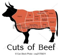 Beef Cuts Chart Vector Beef Cuts Chart