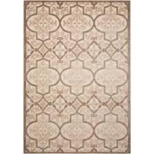 aloha cream 5 ft x 7 ft indoor outdoor area rug
