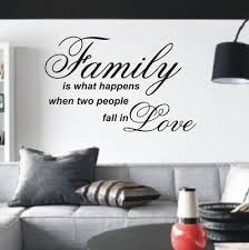 Love Wall Quotes Unique Family is what happens when two people fall in Love wall art sticker