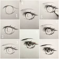 How To Draw Eyes Step By Step Eye Drawing Step By Step At Paintingvalley Com Explore