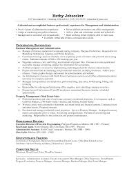 Propertyagement Resume Assistantager Objective Job And Template