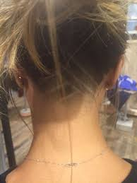 Girl Fade Designs Triangle Nape Girl Undercut With Design Natural Fade And No