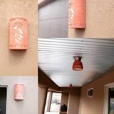 southwestern ceramic outdoor wall scone southwest style