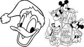 Disegni Da Colorare I Personaggi Disney In Versione Natalizia