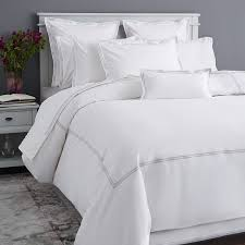 hudson park collection italian percale king duvet cover white silver 360