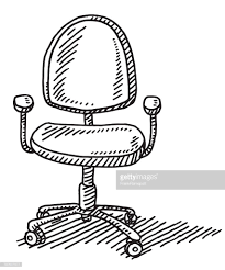 office chair drawing. Simple Chair Office Chair Drawing  Vector Art Throughout A