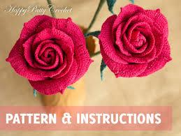 Crochet Decoration Patterns Easy Crochet Rose Pattern Crochet Flower Patterns Crochet