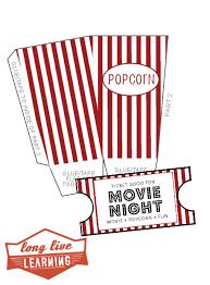 Movie Night Pack Popcorn Box Movie Tickets Happy Trails Wild Tales