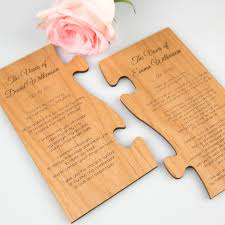 engraved wooden puzzle piece