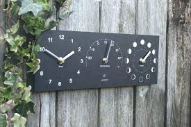 24 outdoor clock wall mounted outdoor clock thermometer and flower basket outdoor wall clock and thermometer 24 outdoor clock