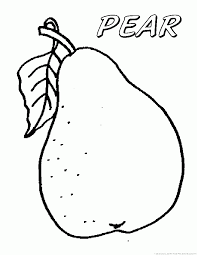 Small Picture Pear Coloring Pages