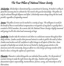 examples of national honor society essays national honor society community service letters google search