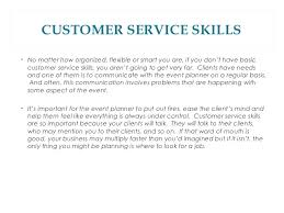 qualities of a good event planner 8 customer service