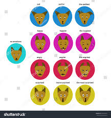 Vector Collection Feelings Dog Pet Emotions Royalty Free