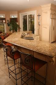 Kitchen Bar Top Kitchen Island With Raised Bar Top House Decor