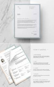 Etsy Resume Template Enchanting Clean Resume Template And Cover Letter By This Paper Fox On Etsy
