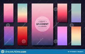 Vector Set Of Soft Gradient Background ...