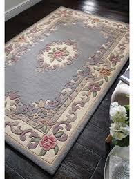 quick view lotus premium aubusson grey rug