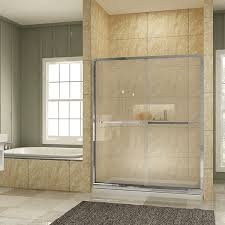 bypass shower doors are sliding doors typically they consist of two sliding glass panels of course you can add some additional fixed panels that roll