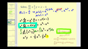 solving linear first order diffeial equations