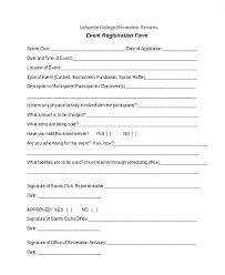 Registration Template Word Event Registration Form Template Word