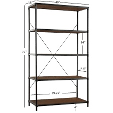 Harrison Industrial Rustic Pipe Frame Shelf Media Tower by iNSPIRE Q  Classic - Free Shipping Today - Overstock.com - 17136260