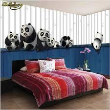 Beibehang 3D Stereo Children Room Large Mural Male Girl Bedroom Sofa  Backdrop Wall Cute Panda Wallpaper