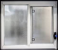 series 100 aluminium sliding window frosted glass