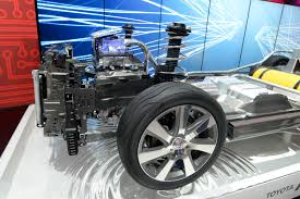 the front end of toyota s fcv has a power control unit and electric motor that use