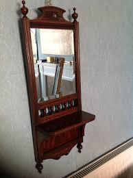 vintage wood wall mirror antique wooden mirror with shelf wooden designs