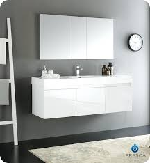 white bathroom medicine cabinets. Contemporary Medicine 60 White Bathroom Vanity Mezzo Wall Hung Single Sink Modern  With Medicine Cabinet And White Bathroom Medicine Cabinets