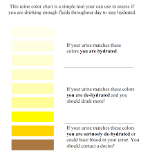Hydration Color Chart Hydration In Sports Team Behind The Team