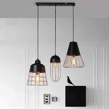 pendant lamp traditional copper black cage rose gold 8103