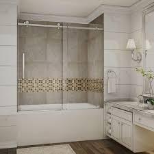 Glass Doors For Bathtub Aston Moselle 60 In X 60 In Completely Frameless Sliding Tub