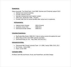 Gallery Of Blank Resume Worksheet For High School Students Resume