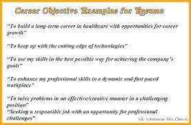 Professional Cv Objective Examples Resume Samples For Any Job Com
