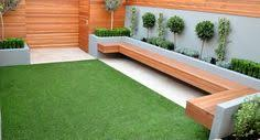 Small Picture small garden design hardwood floating bench artificial grass