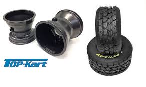 Cadet Top Kart Comer Wheel Dunlop Kt3 Wet Tyre Bundle