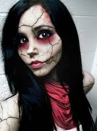 broken doll makeup look for